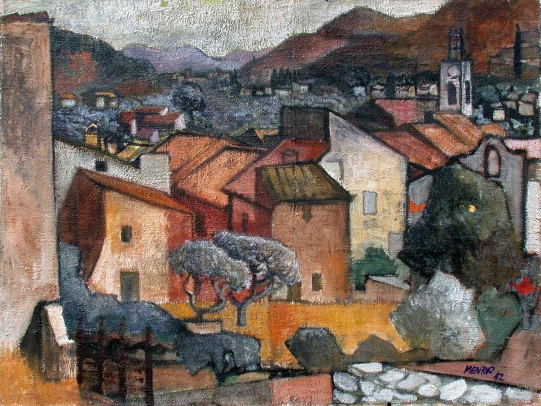 Solliès-Toucas, 1952, huile sur toile, 54 x 73 cm.