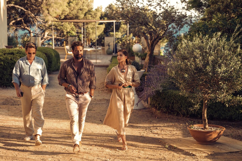 Les acteurs Benoit Magimel, Nuno Lopez et Clothilde Courau.