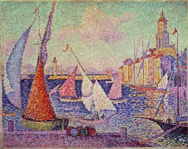 Saint Tropez peint par Signac