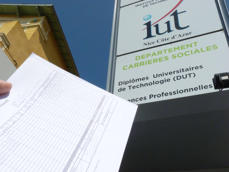 La liste des logements disponibles, un système simple géré par l'association étudiante «Les Citrons Seniors» de l'IUT de Menton.