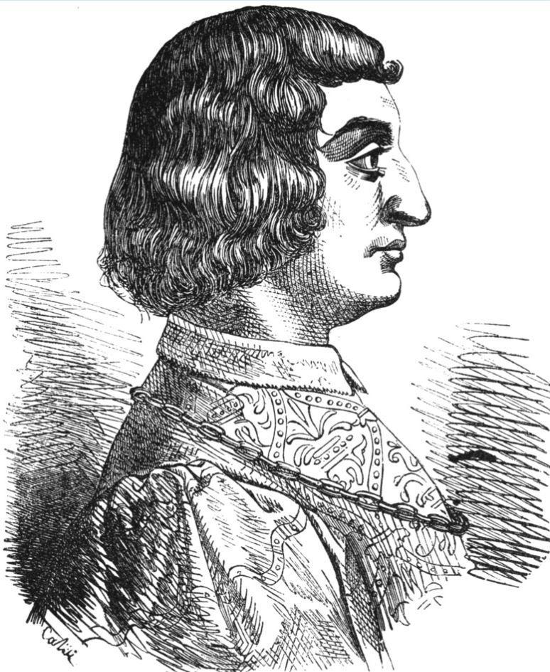 Persuadé par Facino Cane, Jean-Marie Visconti fit assassiner et empoisonner sa propre mère. Peu de temps après, le même jour, les deux hommes moururent.