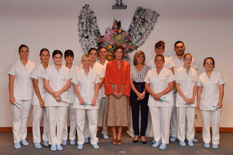 La promotion 2018-2019 des étudiants aides-soignants.
