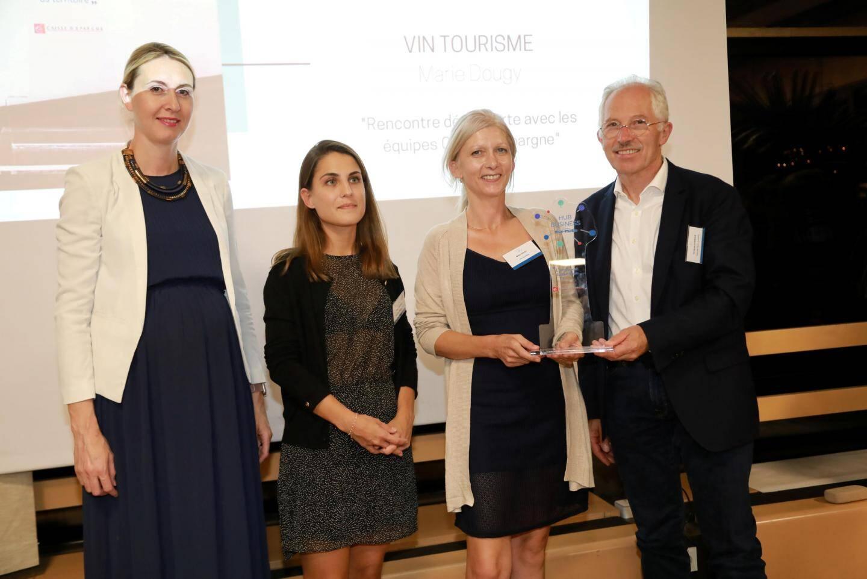 Emilie Guérin, Tania Vilas-Boas, Marie Dougy et Jacques Chibois