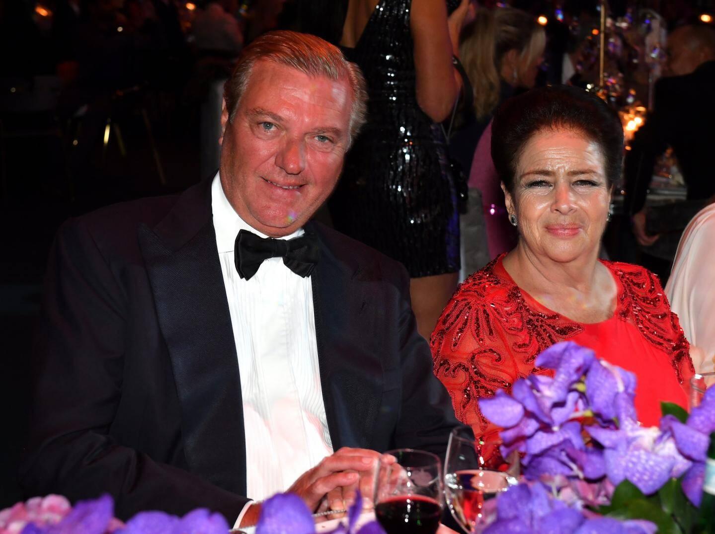 Le prince Charles de Bourbon des Deux-Siciles et la Reined'Egypte Fadila Farouk.