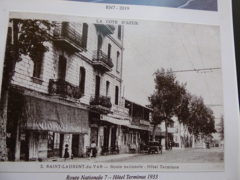 Route nationale 7, hôtel Terminus, 1933.