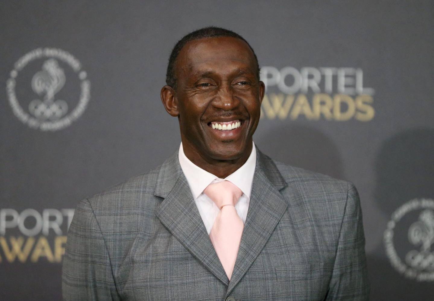 Linford Christie, champion olympique du 100 m en 1992.