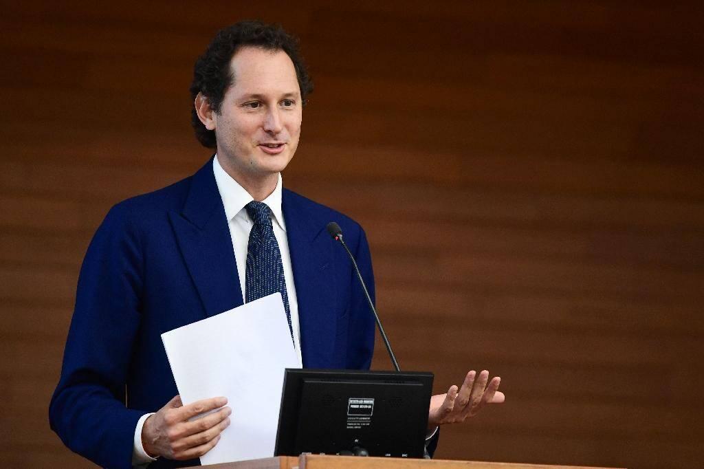John Elkann, le patron du groupe Fiat Chrysler Automobiles (FCA), lors d'une conférence à l'Université Bocconi à Milan, le 27 mai 2019