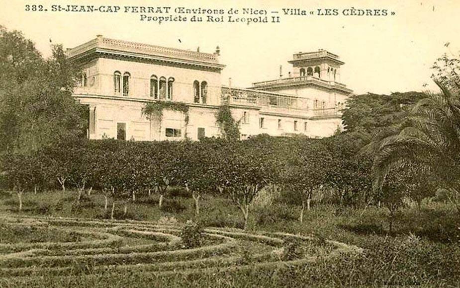 La villa Les Cèdres, rachetée à l'ancien maire de Villefranche, Désiré Pollonais.
