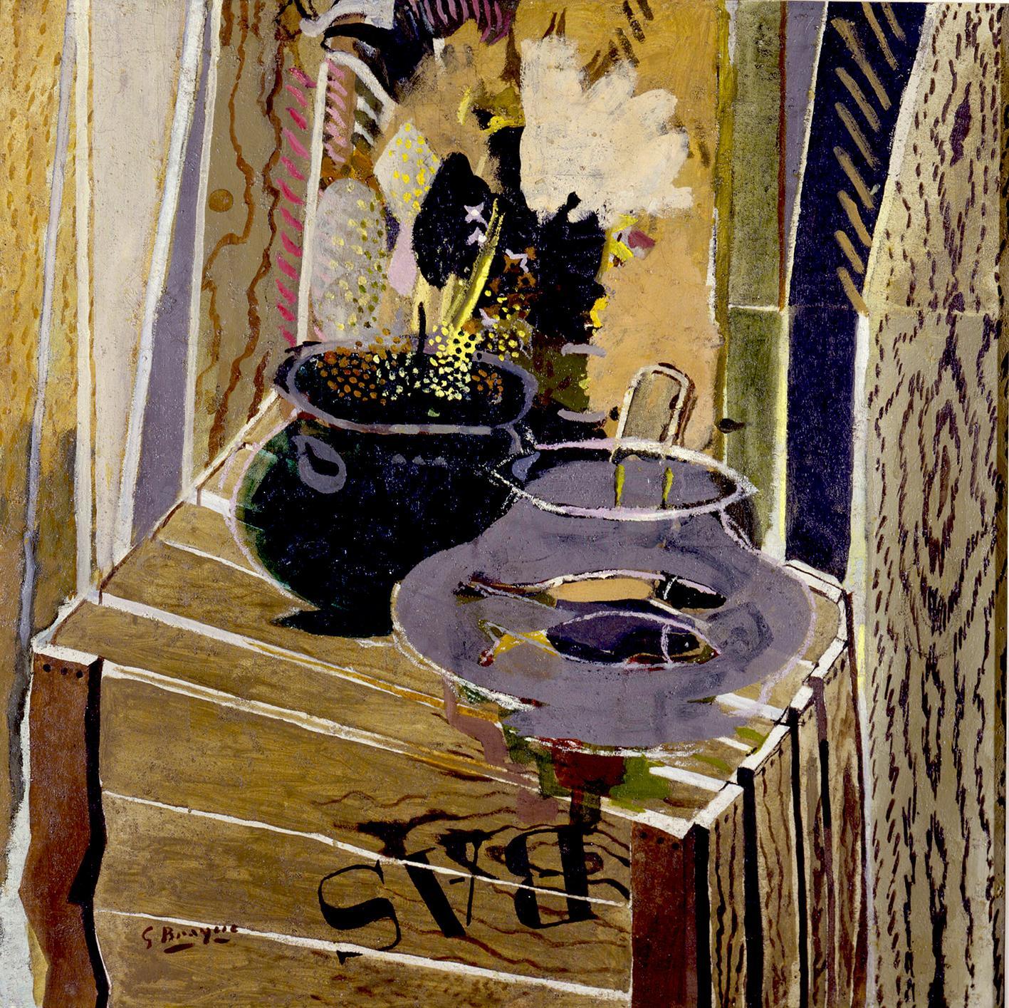 George Braque, La Caisse d'emballage, 1947. Huile sur toile, 92×92 cm.