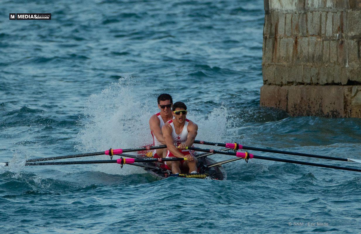 Mathieu Monfort et Giuseppe Alberti, dans l'effort vers la médaille de bronze.(DR)