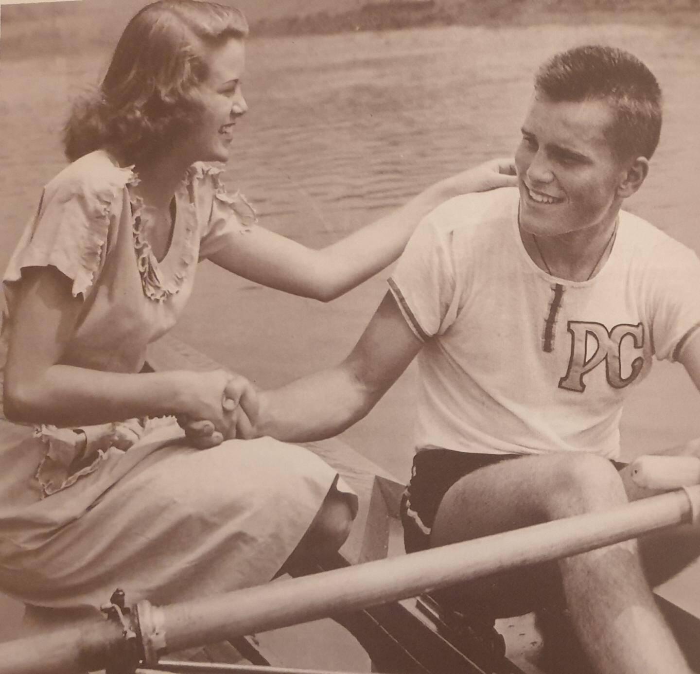 Grace Kelly et son frère John B. Kelly, en 1949.(DR)