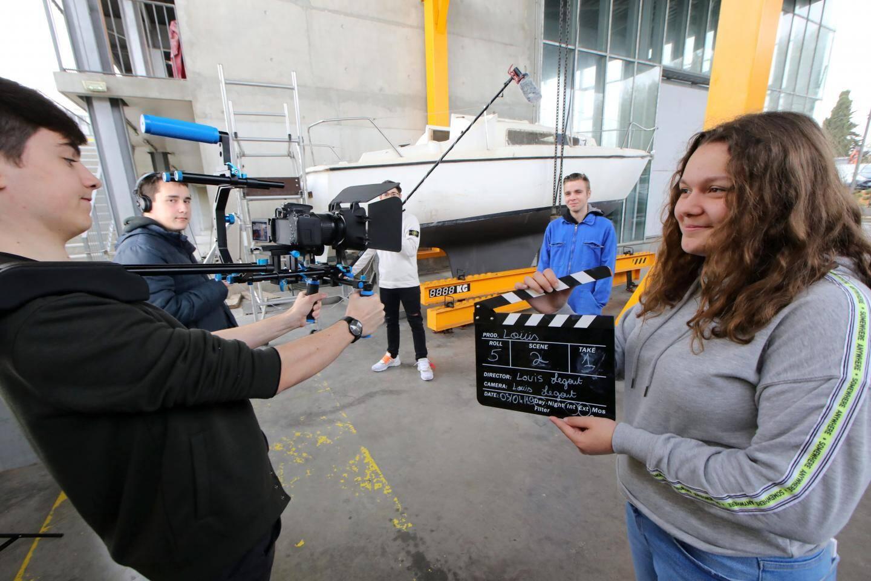 Durant le tournage de La Fugue, notre rédaction s'est invitée sur le plateau avec les lycéens de Jacques-Dolle à Antibes.