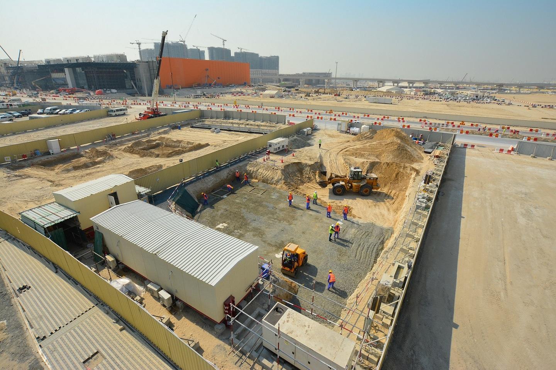 Sur la parcelle C48 à Dubaï, au cœur du site de l'Exposition universelle, les travaux ont démarré pour bâtir le pavillon monégasque.