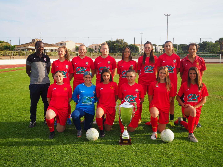 Les championnes de France U18F de l'an dernier qui jouent désormais chez les seniors.