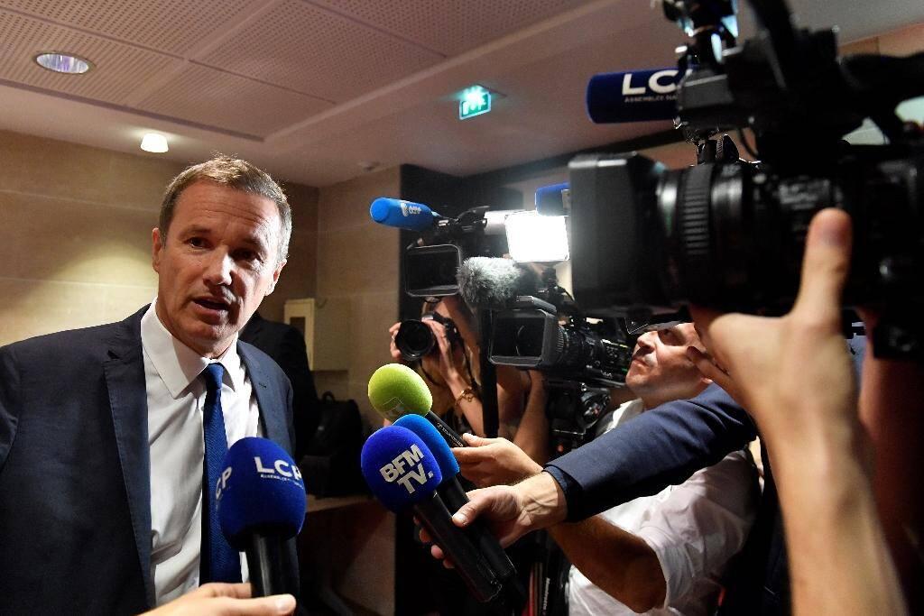 Le président de Debout la France (DLF), Nicolas Dupont-Aignan, à l'Assemblée nationale en 2018