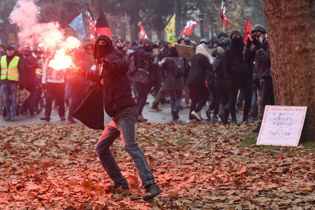 À Nantes lors d'une manifestation contre la réforme des retraites le 5 décembre 2019