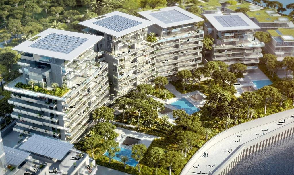Des immeubles et des villas front de mer vont être contruits. La fin de la construction des premières villas est prévue en 2022.