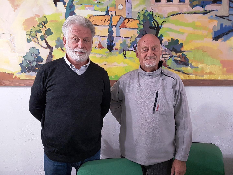 Le maire, Patrice Briandet (à droite).