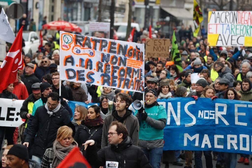 Manifestation contre la réforme des retraites à Paris le 4 janvier 2020