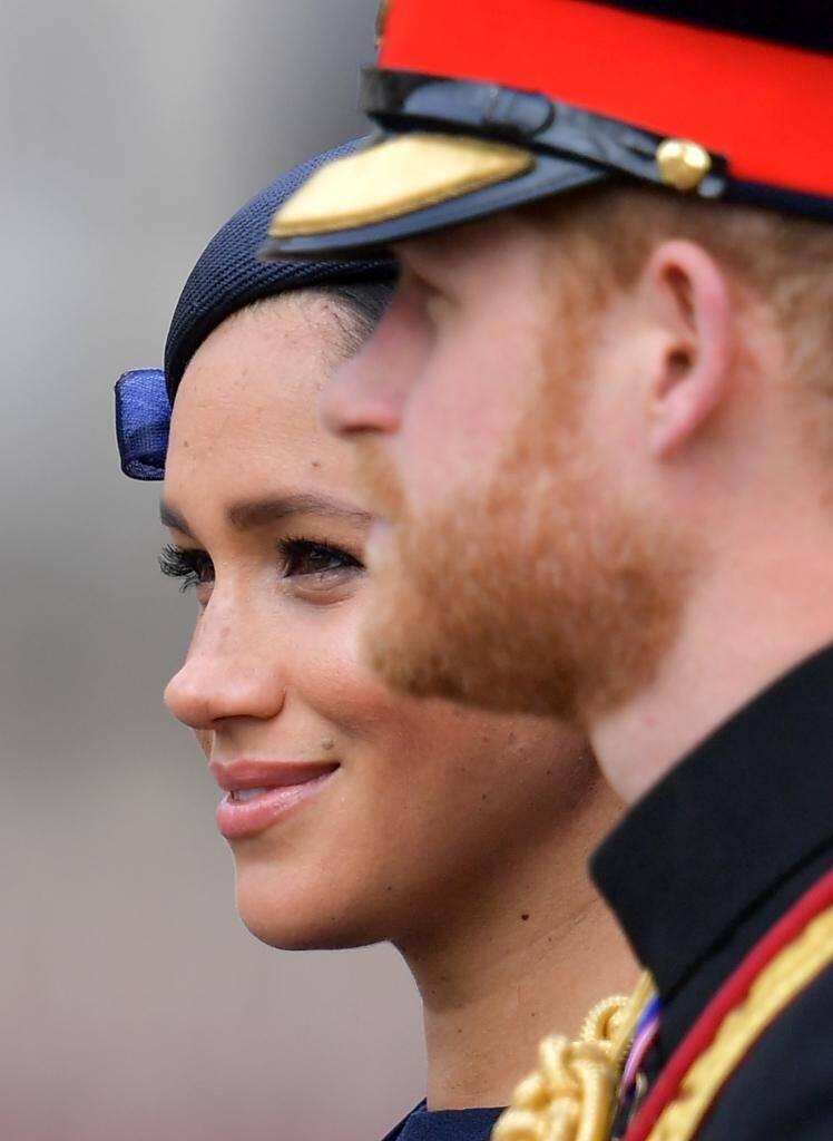 Le prince Harry et son épouse Meghan, à Londres le 8 juin 2019.
