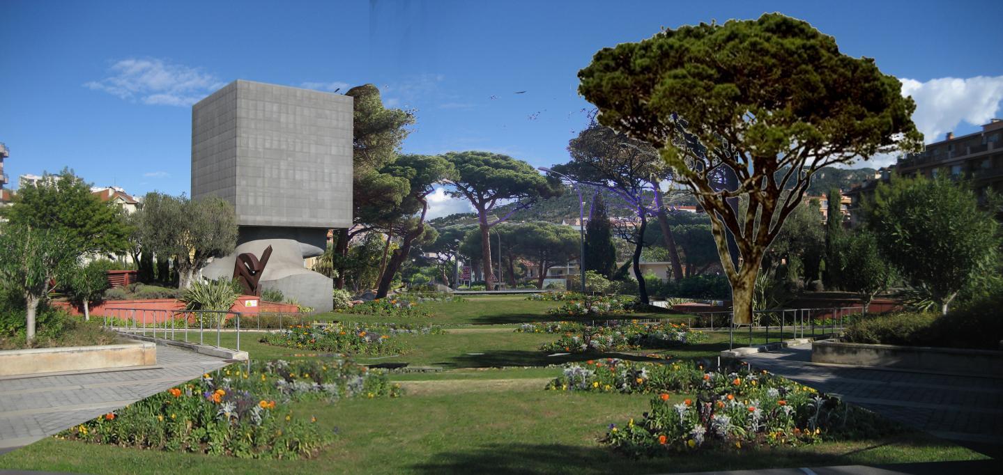 Du vert à la place d'Acropolis.