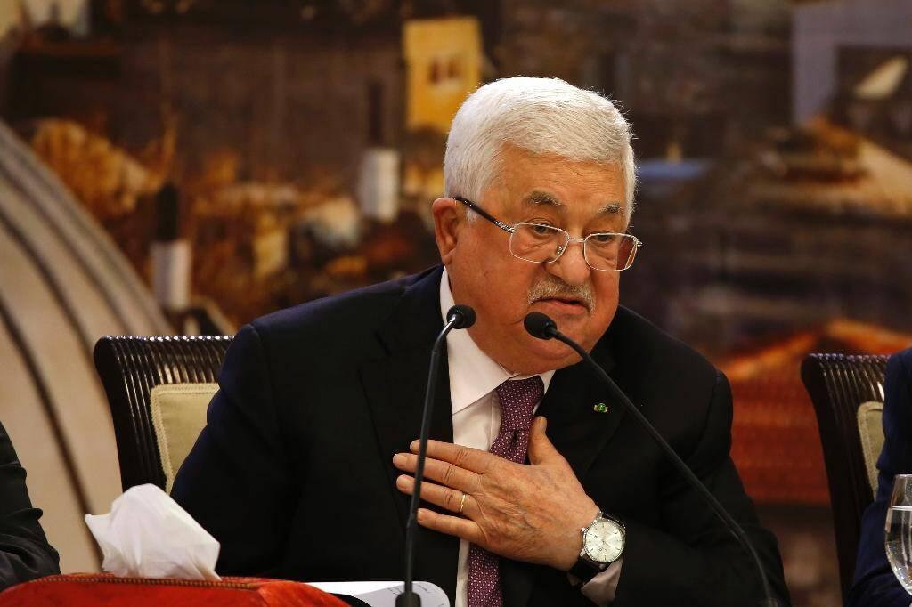 Le président palestinien Mahmoud Abbas à Ramallah le 28 janvier 2020, après l'annonce du plan de Donald Trump pour le Proche-Orient