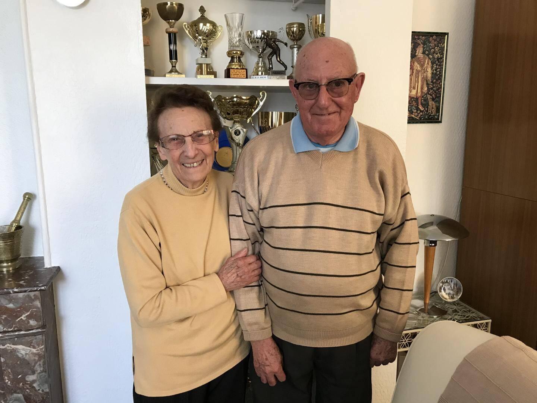Marcel, fils unique d'Olga, est marié à Huguette depuis 63 ans.