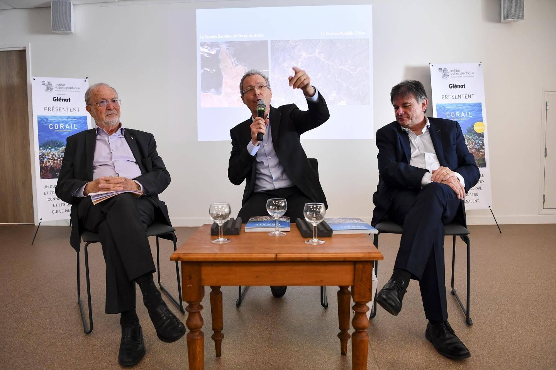 Les trois auteurs: Bernard Fautrier, Robert Calcagno et Denis Allemand.
