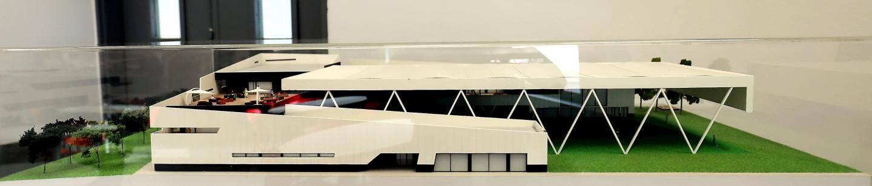 La maquette du futur centre d'entraînement.