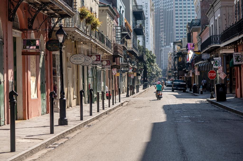 Une rue désertée de La Nouvelle-Orléans (Louisiane), le 26 mars 2020