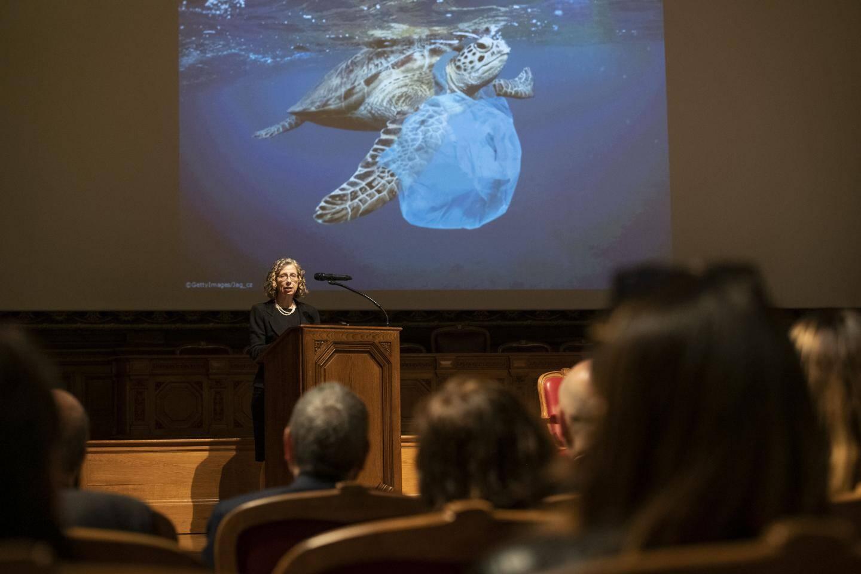 Le Programme des Nations unies pour l'environnement, dont Inger Andersen est la directrice exécutive, coordonnera désormais la coalition des aquariums contre les déchets marins.