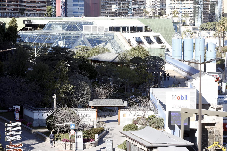 Depuis plusieurs mois, le jardin japonais n'est pas dans sa configuration normale.