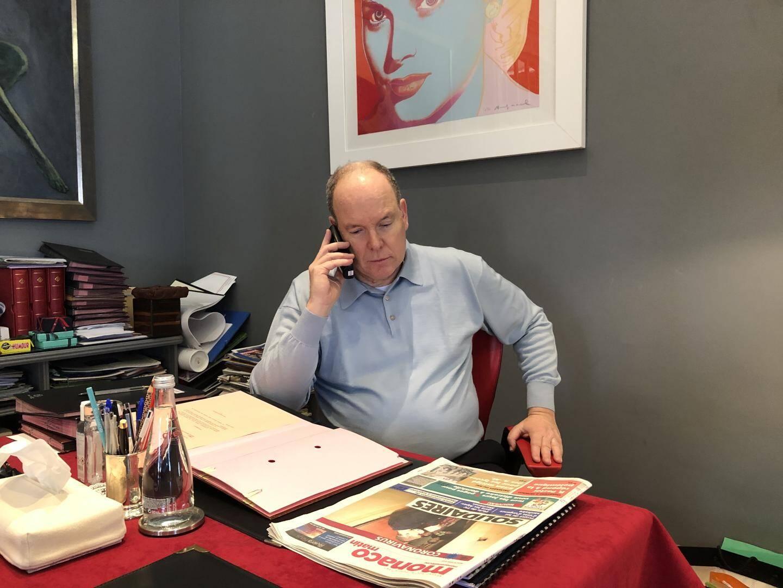 Le prince Albert II, ce jeudi après-midi, lors de notre entretien téléphonique.