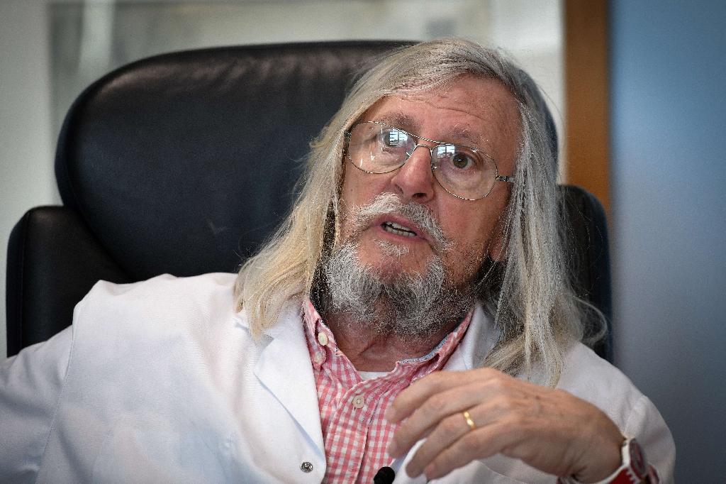 Le Pr Didier Raoult, de l?Institut Hospitalo-Universitaire (IHU) Méditerranée infection, le 26 février 2020 à Marseille