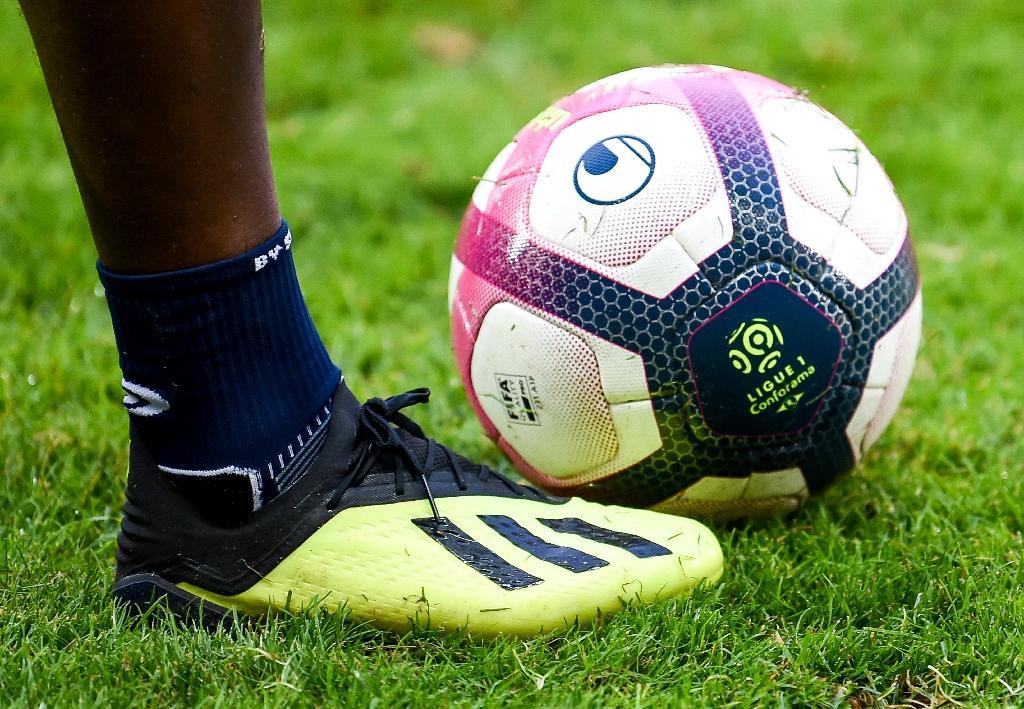 Ballon officiel de la Ligue 1 le 11 août 2018 à Lille.