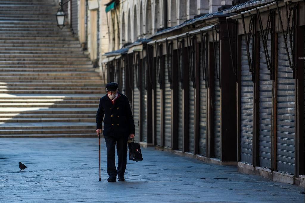 Une rue déserte à Venise, le 18 mars 2020, pendant le confinement