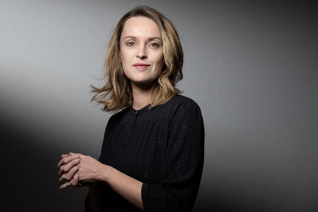 La romancière Aurélie Valognes, le 5 février 2020 à Paris