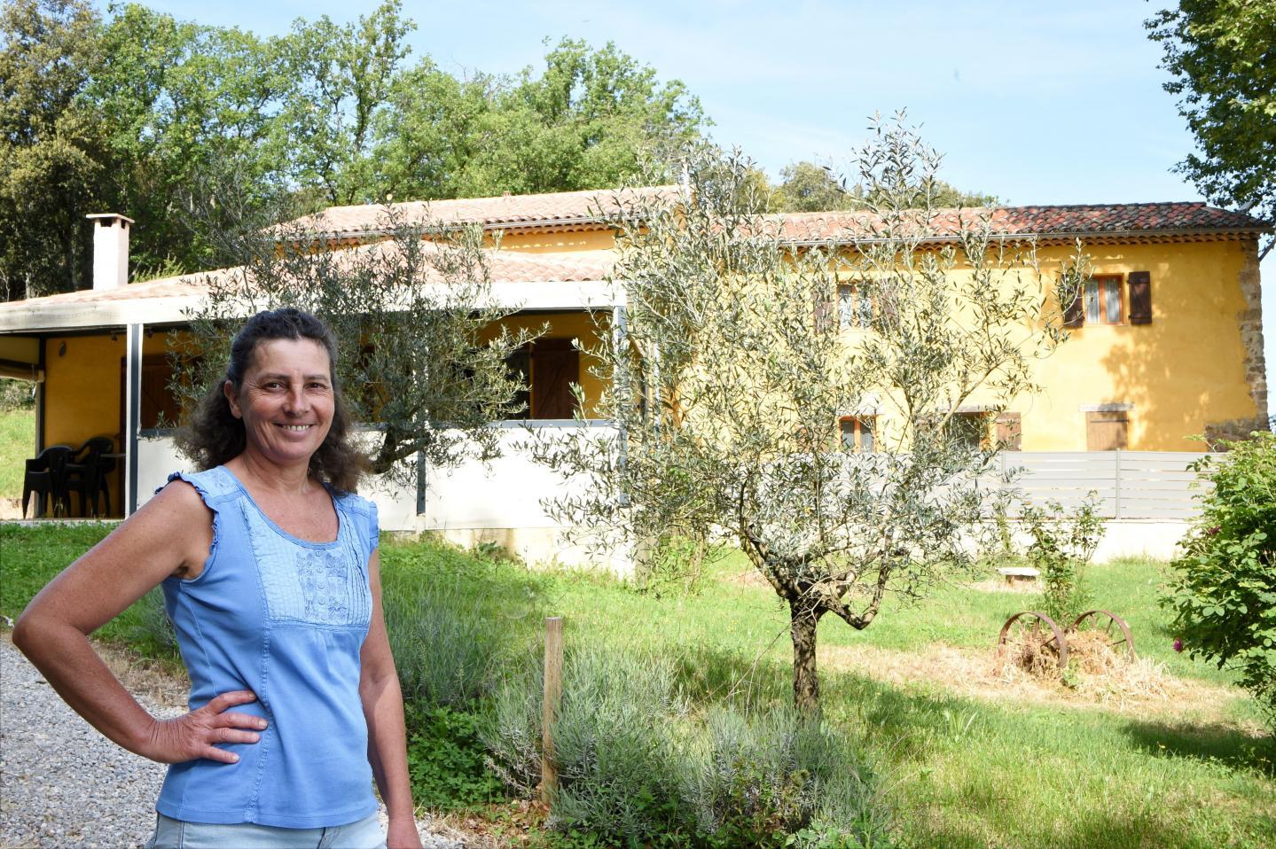 Florence Borsi propriétaire du gîte Le Jasson aux Arcs.