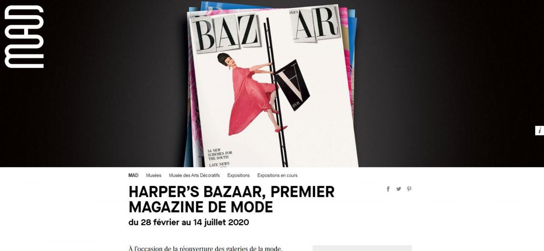 L'expo sur le Harper's bazaar, à voir en partie sur le site du musée des Arts décoratifs de Paris.