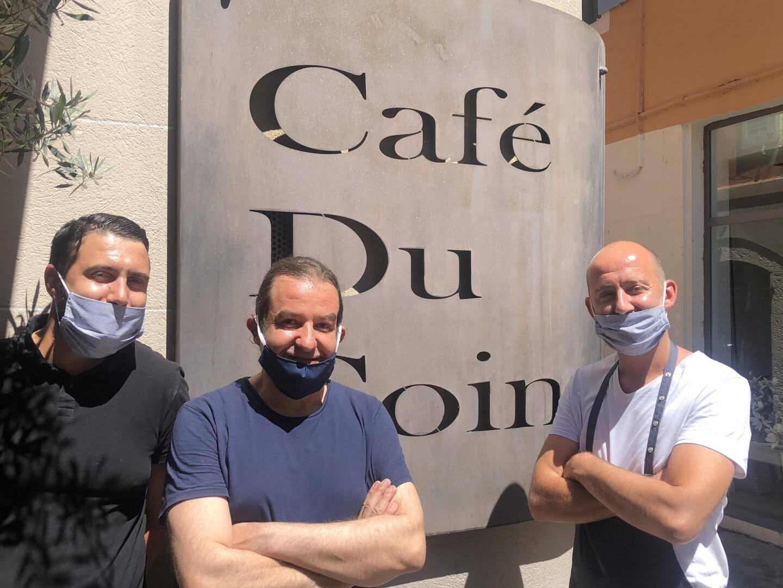 L'équipe du Café du coin d'Olivier Martera et David Leone.
