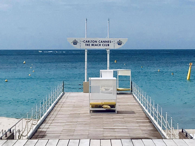 La plage du Carlton