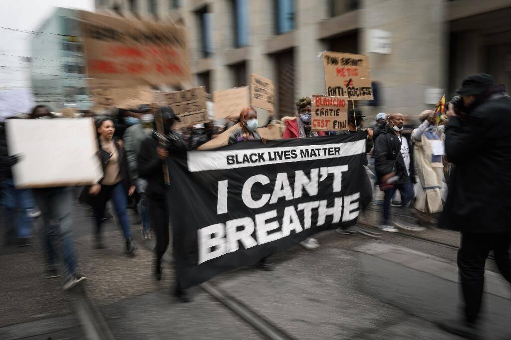 Manifestation anti-raciste à Genève, le 9 juin 2020
