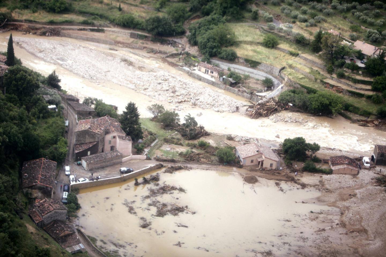 A Rebouillon le 16 juin 2010: la Nartuby a tué trois personnes après que le hameau a été submergé par une vague de 10 mètres.