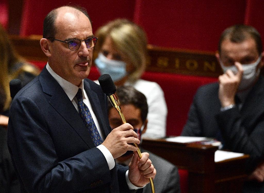 Le Premier ministre Jean Castex lors d'une séance de questions au gouvernement, à l'Assemblée nationale à Paris le 8 juillet 2020