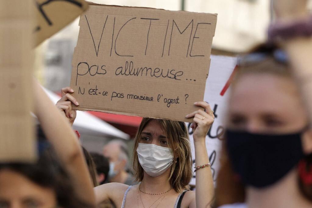 Manifestation à l'initiative de #Iwas contre la violence et les agressions sexuelles contre les femmes, à Ajaccio le 5 juillet 2020