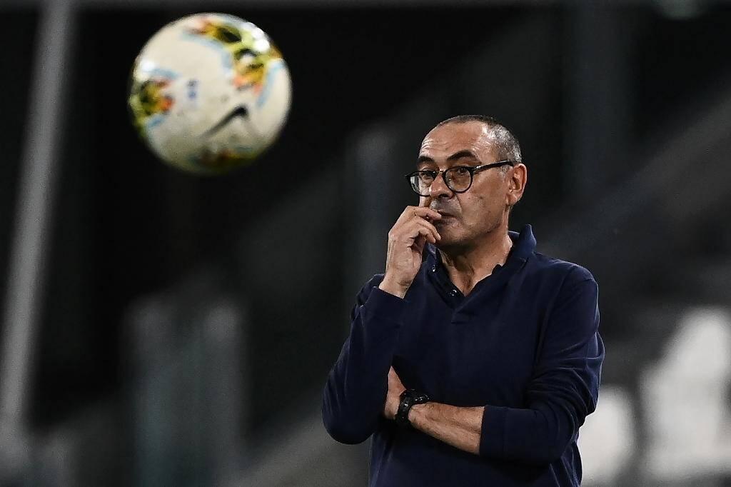 L'entraîneur de la Juventus Maurizio Sarri durant la rencontre face à la Sampdoria Gênes à Turin, le 26 février 2020