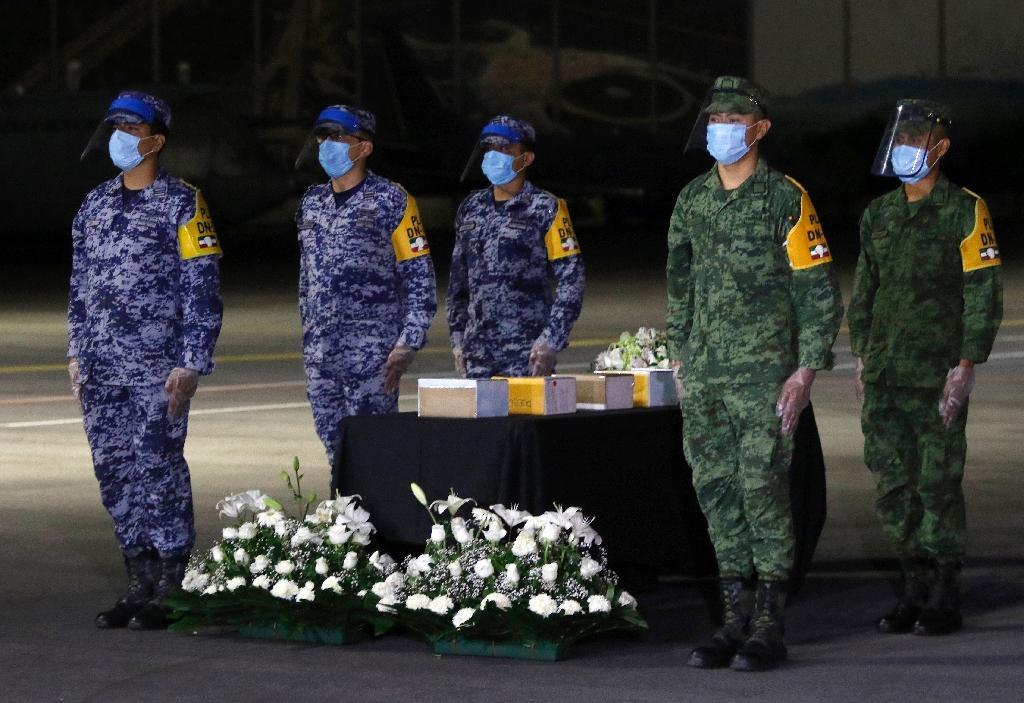 Cérémonie pour le rapatriement des cendres de quelque 200 Mexicains morts du Covid-19 aux Etats-Unis, le 11 juillet 2020 à Mexico