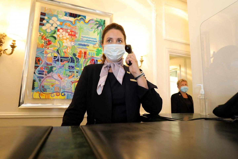 Géraldine Carnus, depuis 15 ans concierge à l'Hermitage.