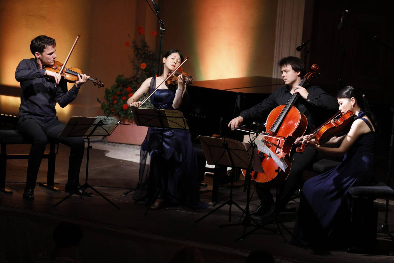 Le quatuor Hermès a ouvert la soirée au son d'un des plus beaux quatuors de Schubert.