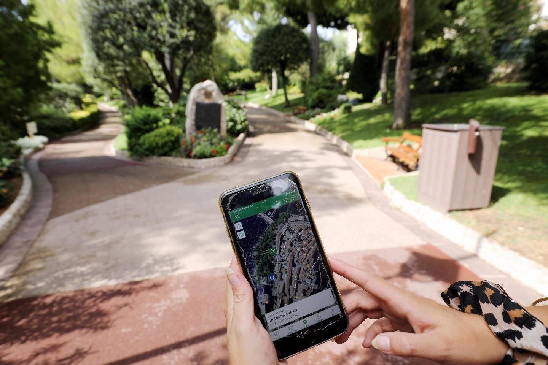 Grâce à votre smartphone, il est possible de se géolocaliser tout au long du parcours.